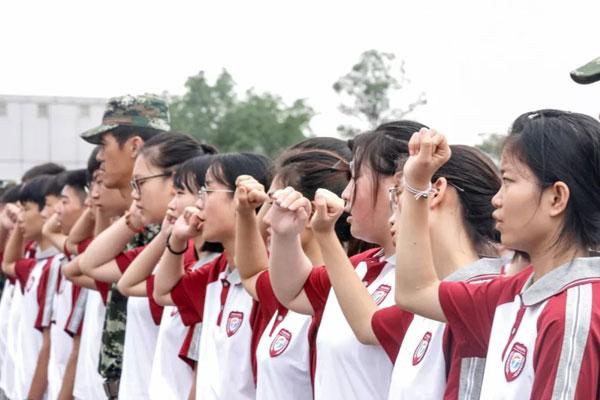 颯爽英姿,2021四川城市技師學院學生軍訓風采